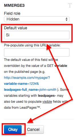 """Establece el valor por defecto a """"Si"""" y haz click en """"Ok""""."""