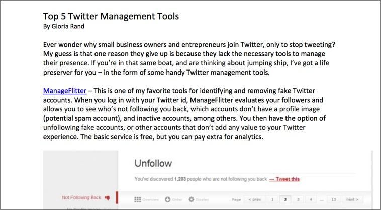 Una sencilla versión en PDF de nuestro post funciona también muy bien.