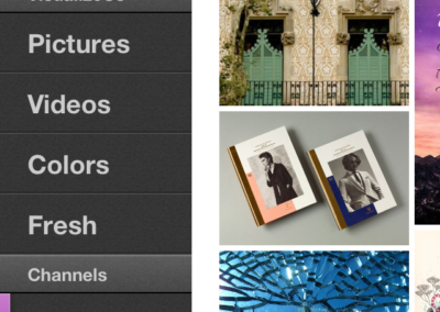 iOS app (menu)
