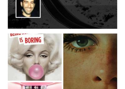 iOS app (profile screen)
